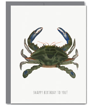 Crab Birthday Glitter Greeting Card | Sylvan Gate Design