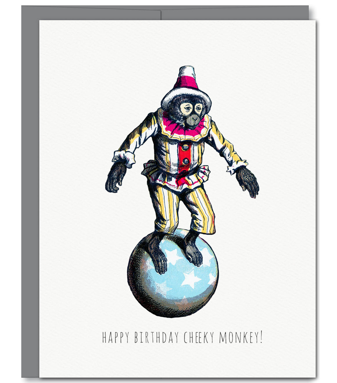 Cheeky Monkey Birthday Glitter Greeting Card | Sylvan Gate Design
