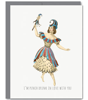 Punch Love Glitter Greeting Card | Sylvan Gate Design