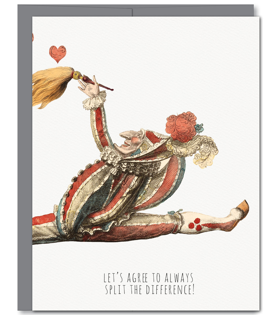 Jester Love Glitter Greeting Card | Sylvan Gate Design