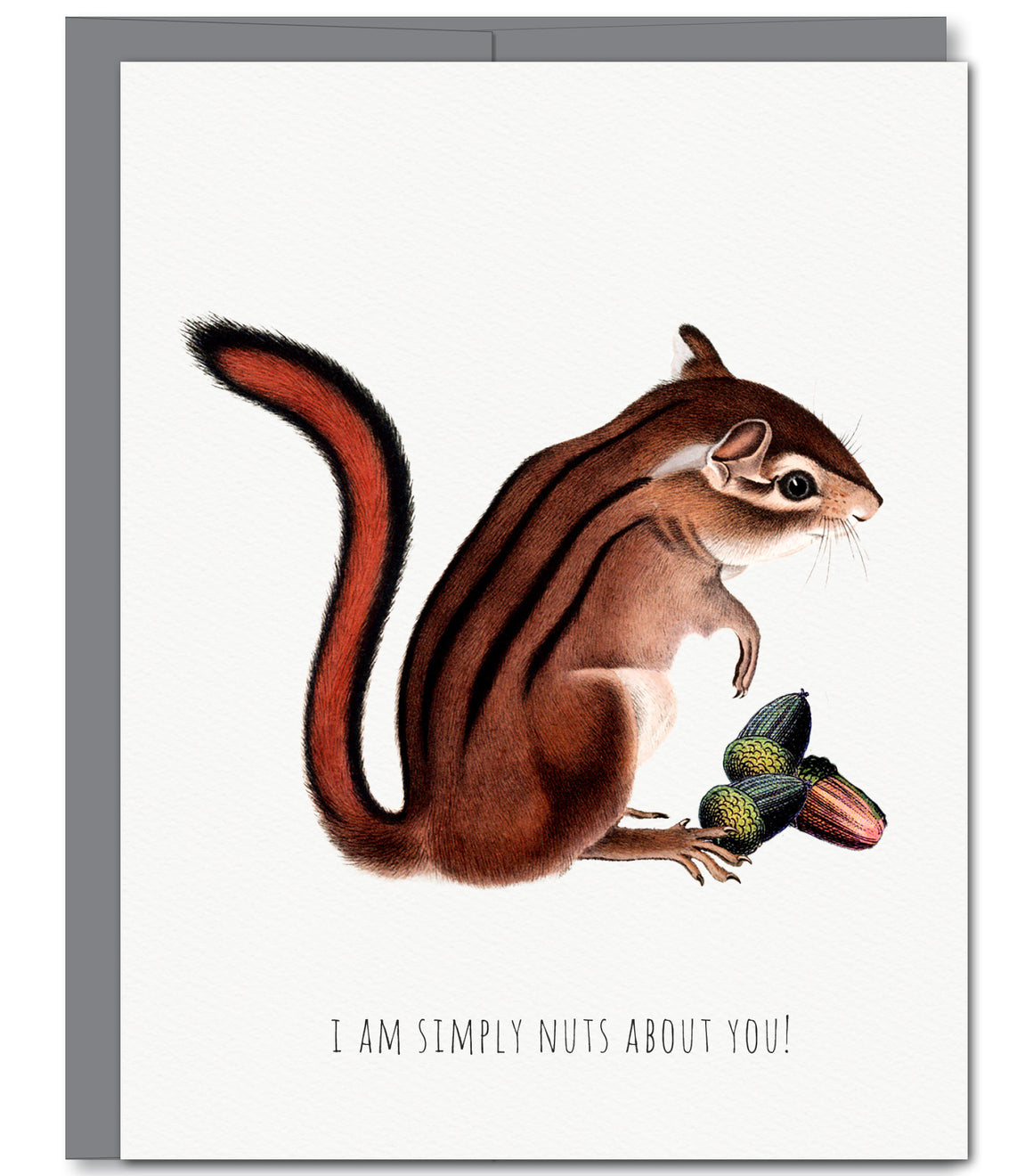 Chipmunk Love Glitter Greeting Card | Sylvan Gate Design