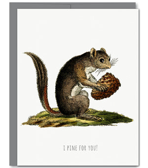 Squirrel Love Glitter Greeting Card | Sylvan Gate Design