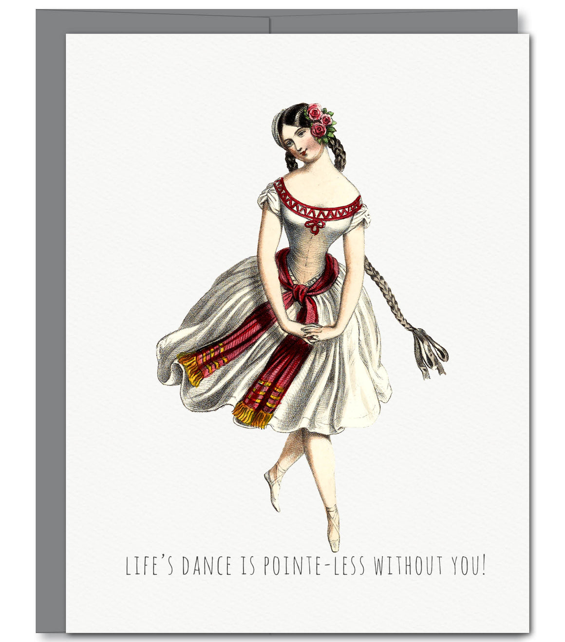 Ballerina Love Glitter Greeting Card | Sylvan Gate Design