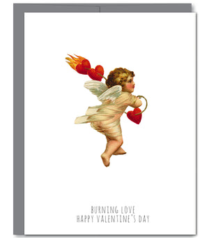 Cupid Valentine Love Glitter Greeting Card | Sylvan Gate Design