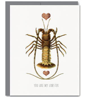 Lobster Love Glitter Greeting Card | Sylvan Gate Design