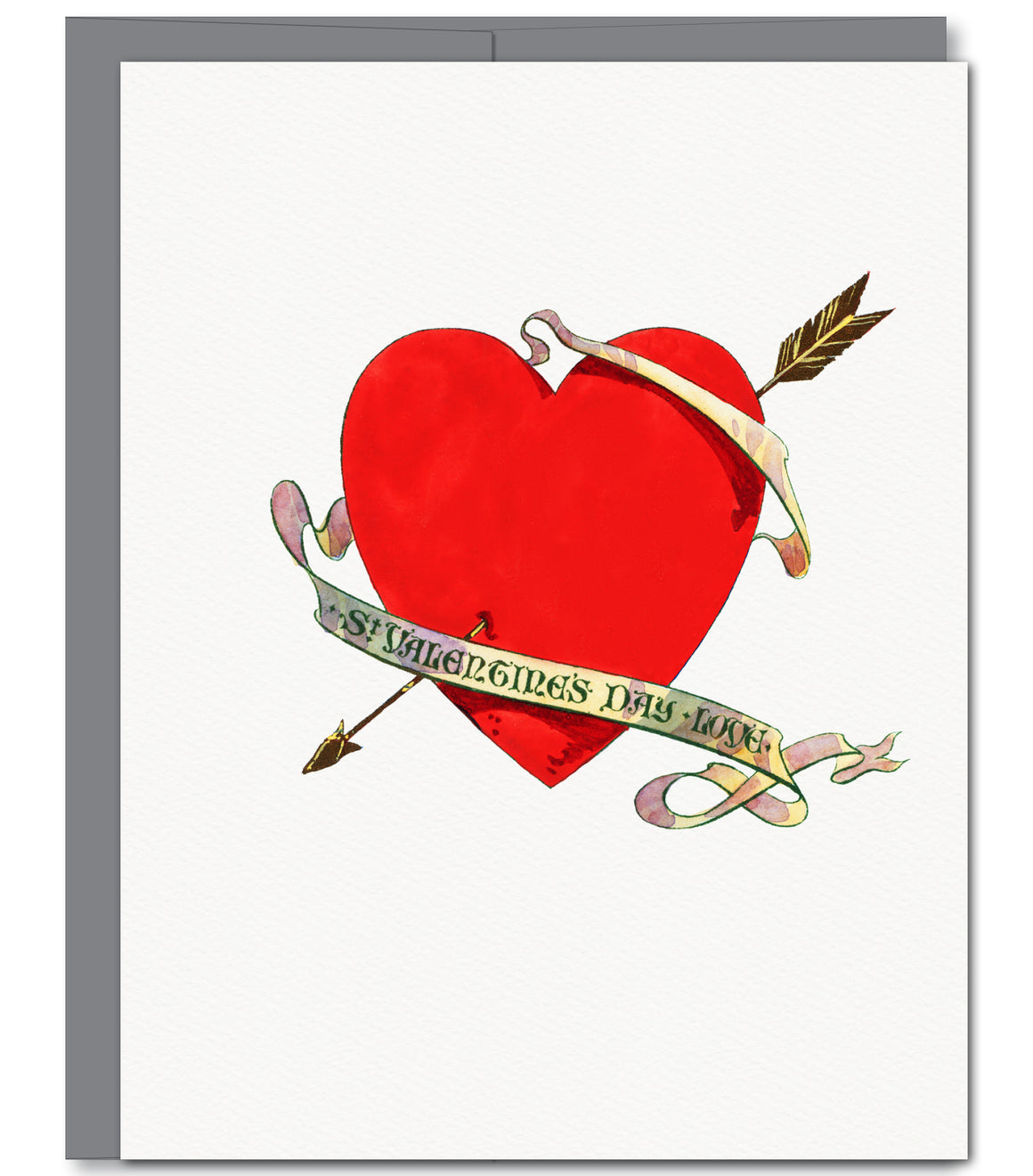 Valentine Heart Love Glitter Greeting Card | Sylvan Gate Design