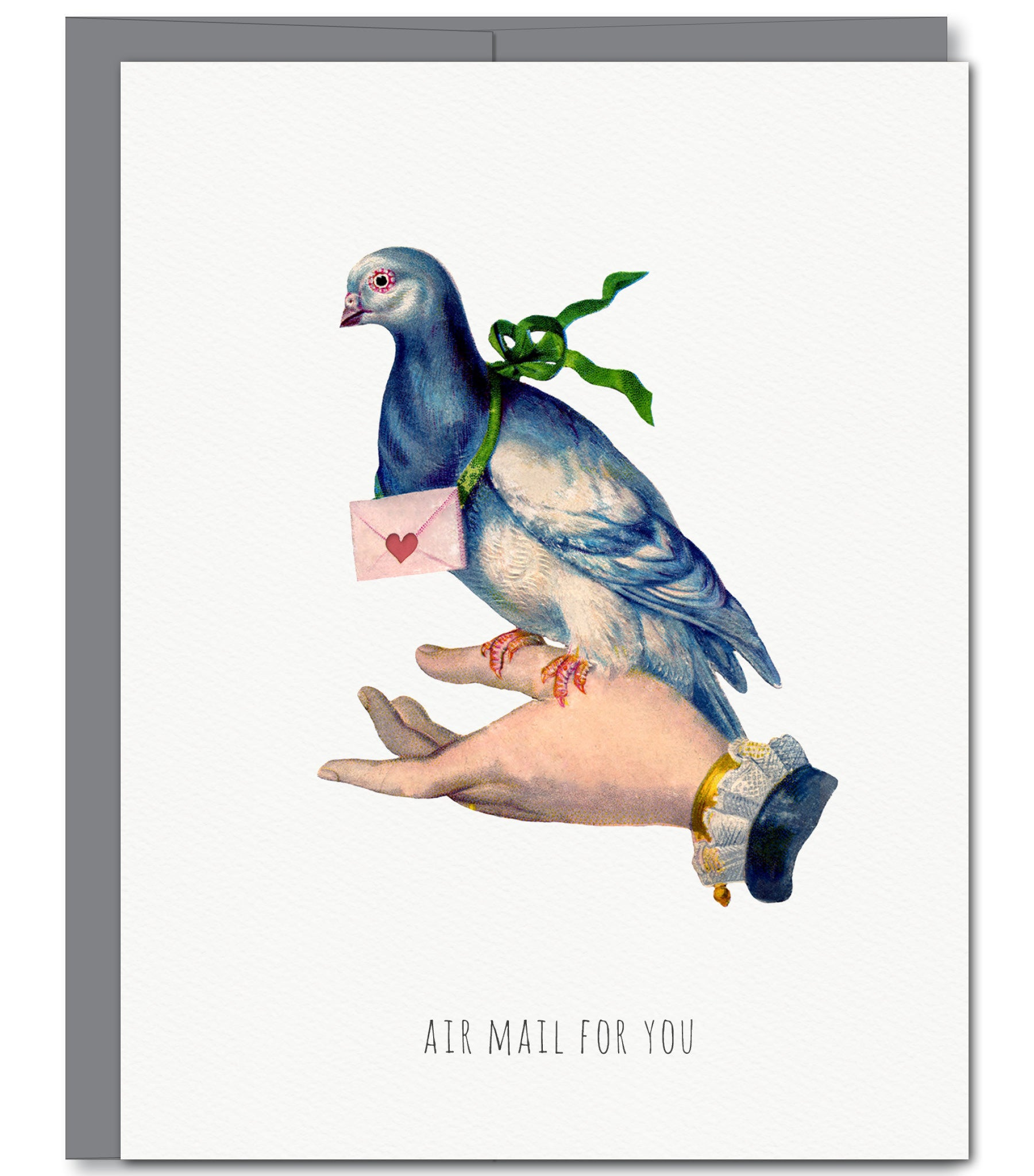 Air Mail Pigeon Everyday Glitter Greeting Card Sylvan Gate Design