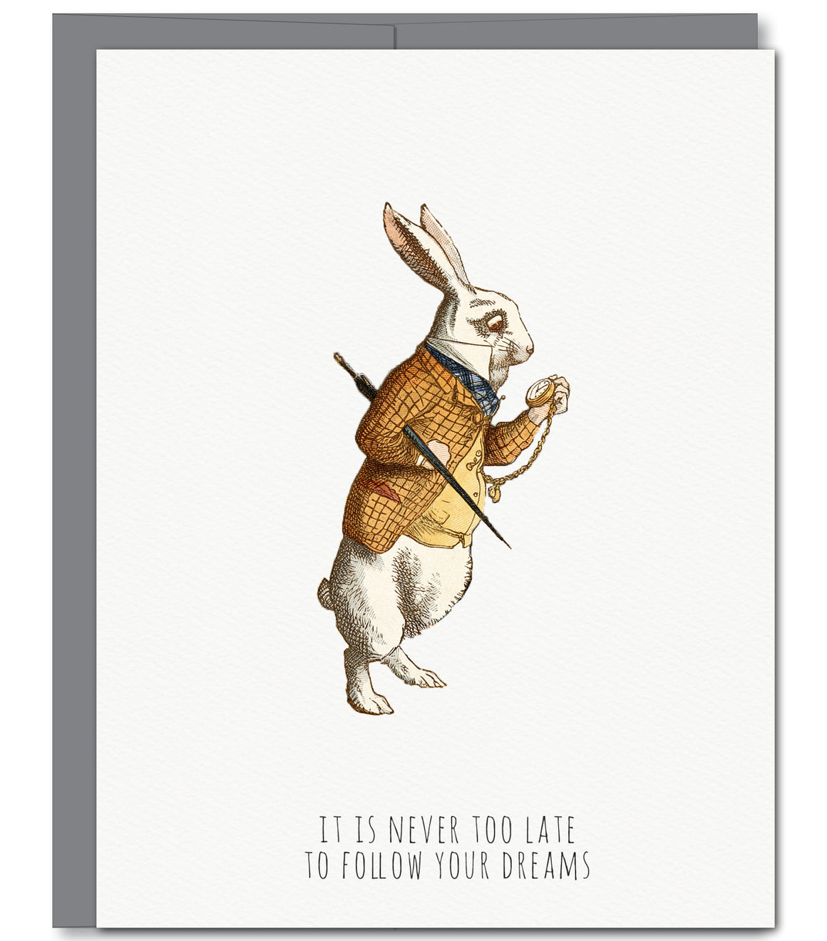 White Rabbit Everyday Glitter Greeting Card | Sylvan Gate Design