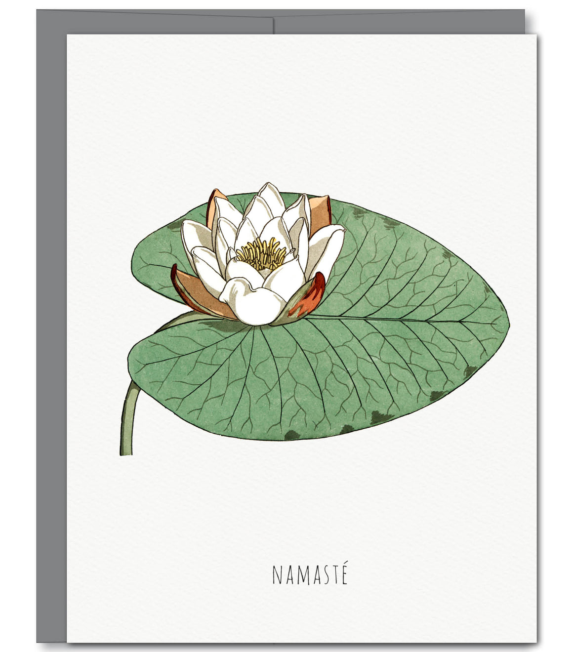Namaste Lily Everyday Glitter Greeting Card | Sylvan Gate Design