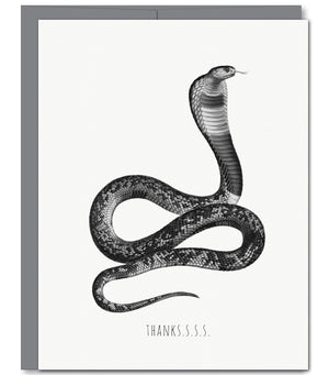 Snake Everyday Glitter Greeting Card | Sylvan Gate Design