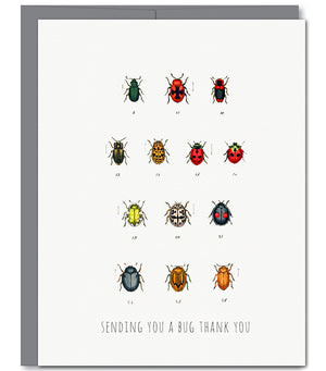 Bug Thank You Everyday Glitter Greeting Card | Sylvan Gate Design