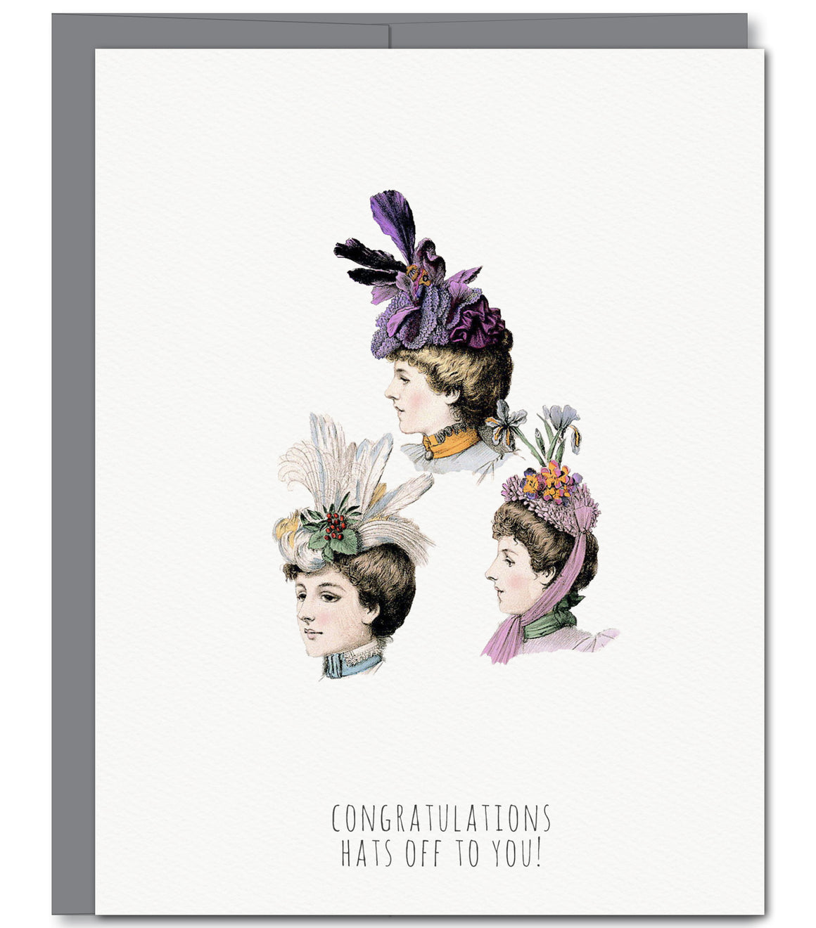 Hats Congratulations Glitter Greeting Card | Sylvan Gate Design