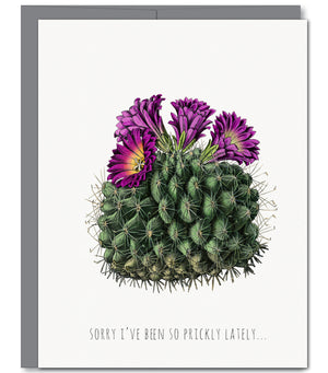 Prickly Apology Everyday Glitter Greeting Card - Sylvan Gate Design