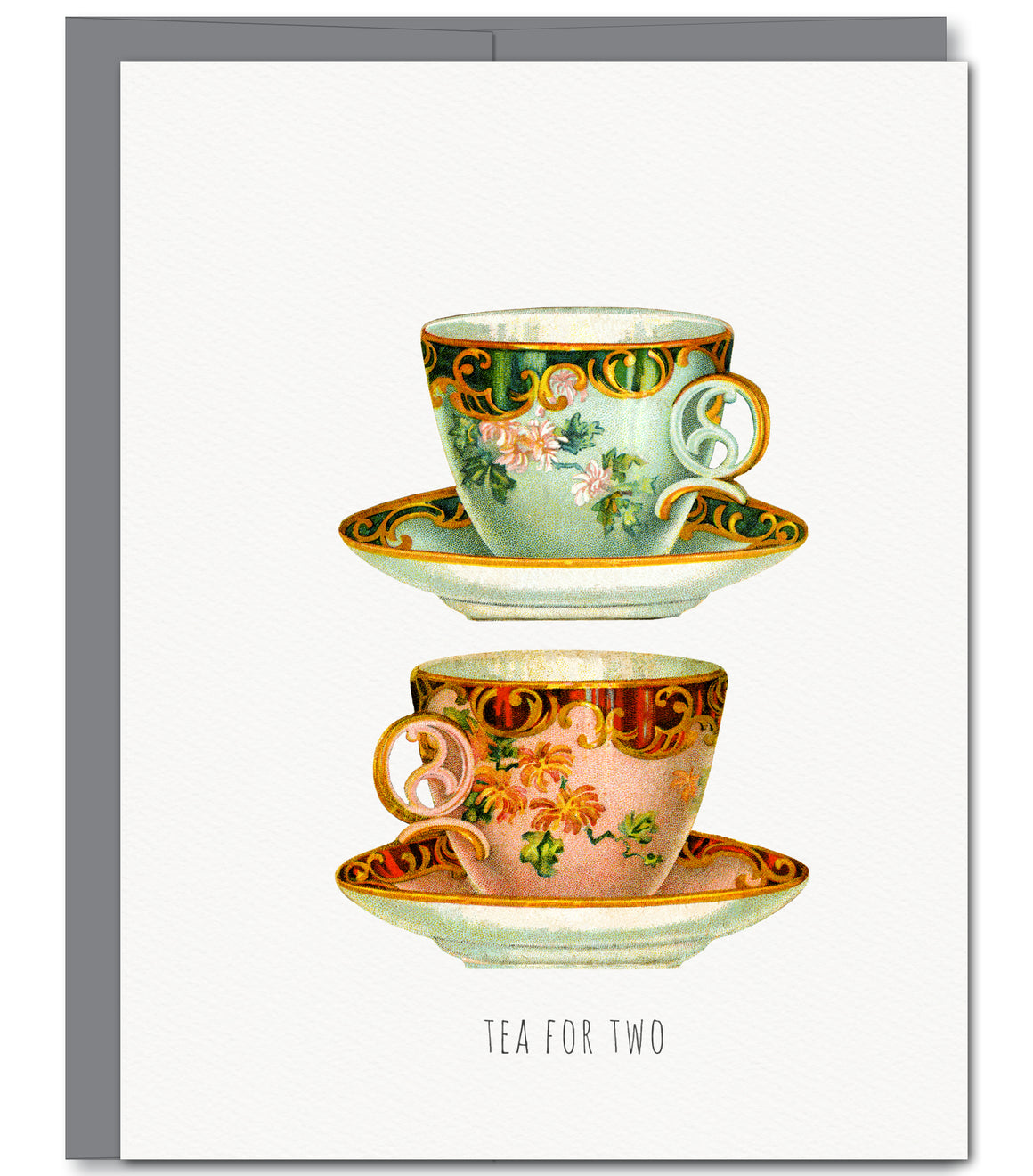Tea For Two Everyday Glitter Greeting Card | Sylvan Gate Design