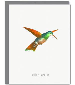 Hummingbird Sympathy Glitter Greeting Card | Sylvan Gate Design