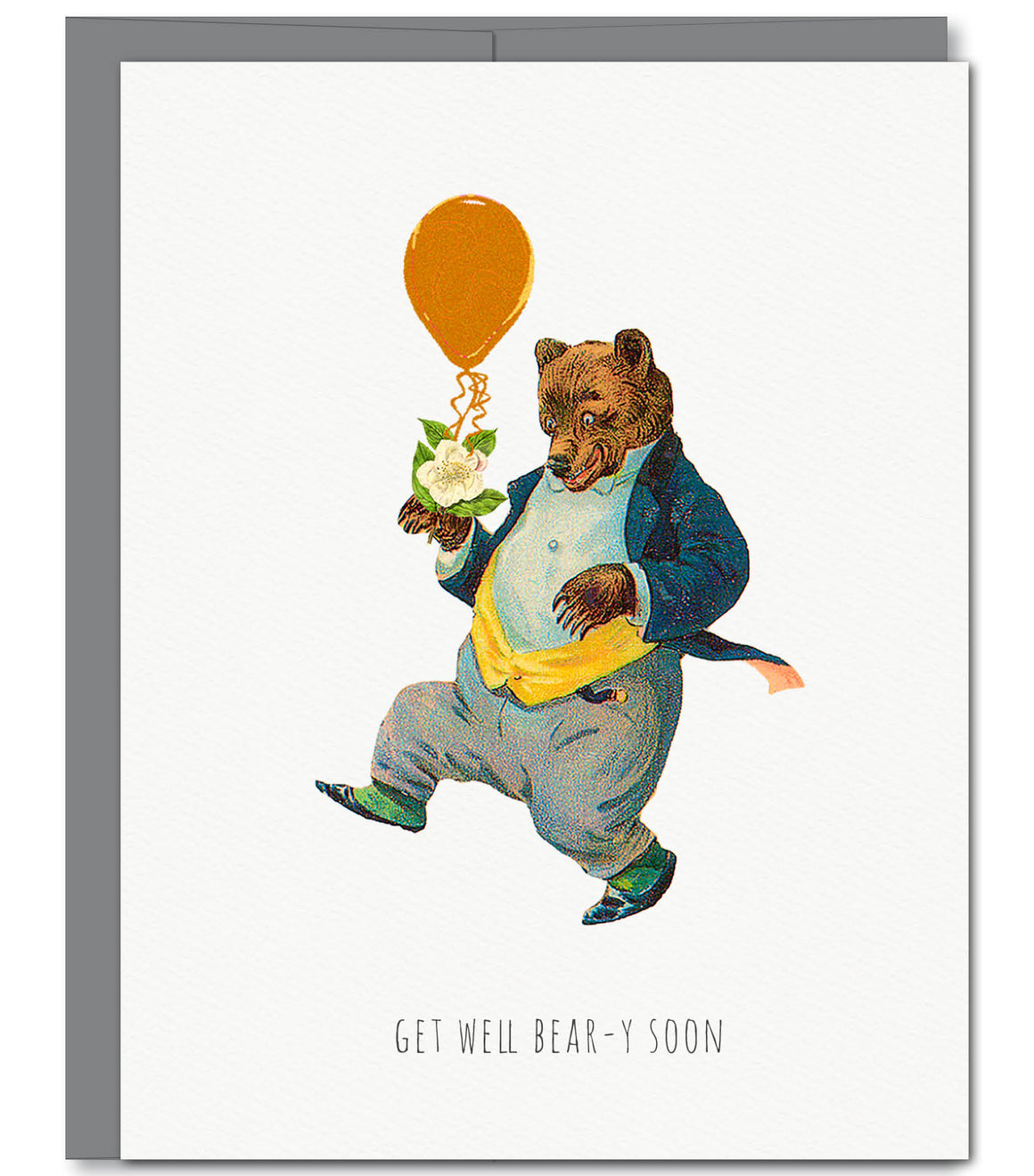 Bear Get Well Glitter Greeting Card | Sylvan Gate Design