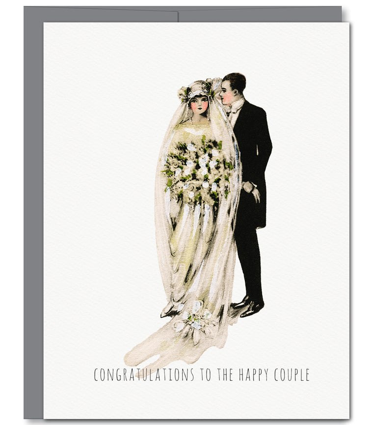 Wedding Mr & Mrs Glitter Greeting Card | Sylvan Gate Design