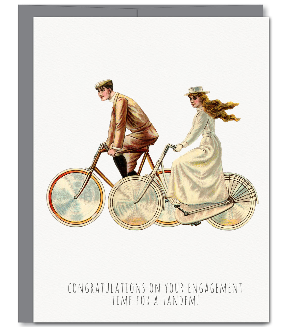 Bike Engagement Glitter Greeting Card | Sylvan Gate Design
