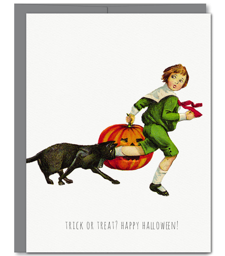 Pumpkin Halloween Glitter Greeting Card | Sylvan Gate Design