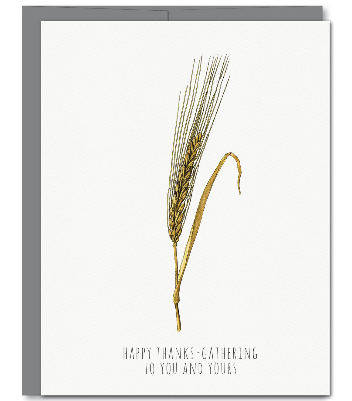 Wheat Thanksgiving Glitter Greeting Card | Sylvan Gate Design