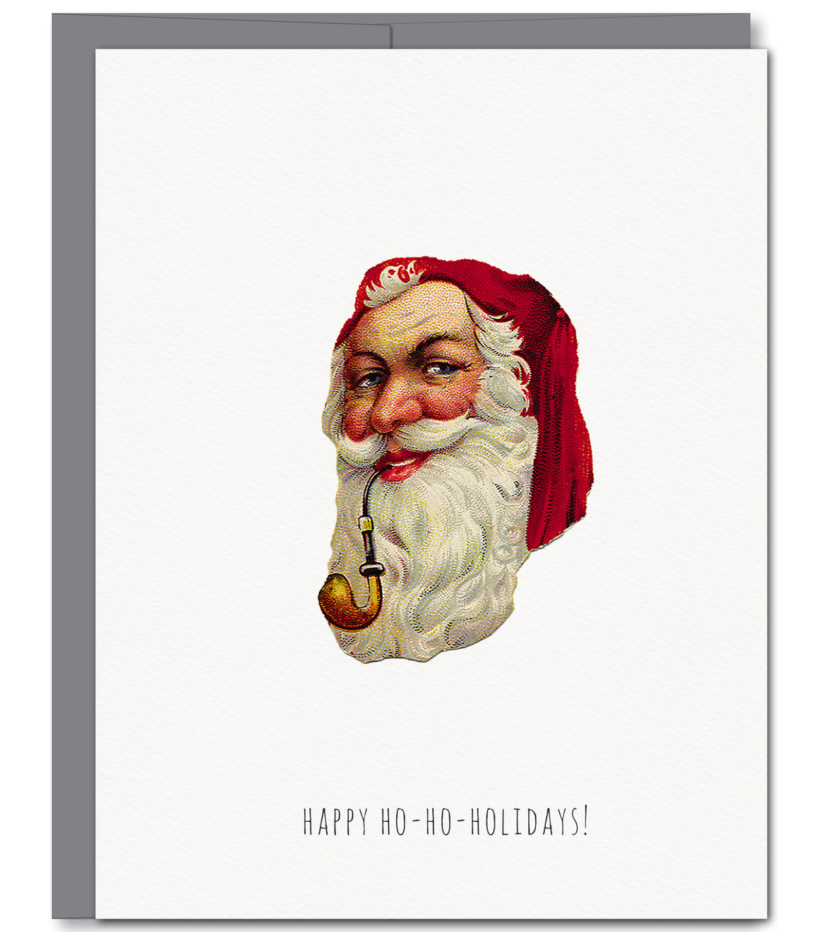 Jolly Santa Holiday Glitter Greeting Card | Sylvan Gate Design