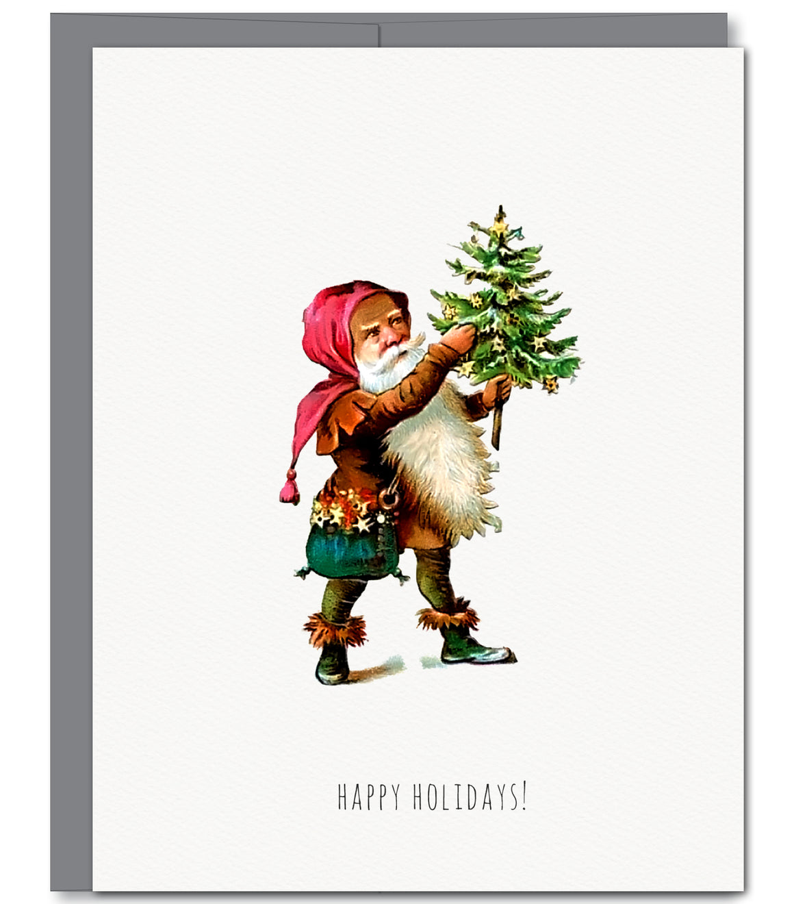 Santa's Tree Holiday Glitter Greeting Card | Sylvan Gate Design