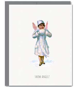 Snow Angel Holiday Glitter Greeting Card | Sylvan Gate Design