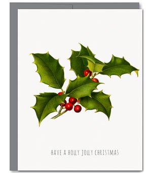 Holly Holiday Glitter Greeting Card | Sylvan Gate Design