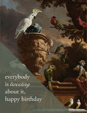 BIRTHDAY TWEET - Modern Masters Greeting Card - Sylvan Gate Design