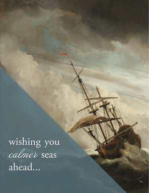 CALMER SEAS - Modern Masters Greeting Card - Sylvan Gate Design