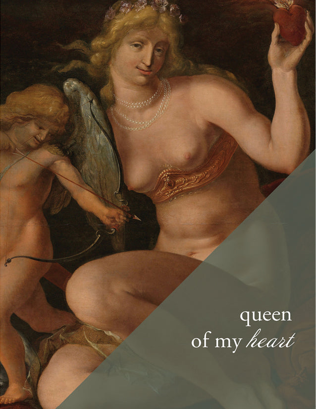 QUEEN OF MY HEART - Modern Masters Greeting Card - Sylvan Gate Design