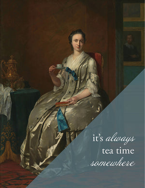 ALWAYS TEA TIME - Modern Masters Greeting Card - Sylvan Gate Design