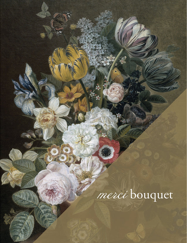 MERCI BOUQUET - Modern Masters Greeting Card - Sylvan Gate Design