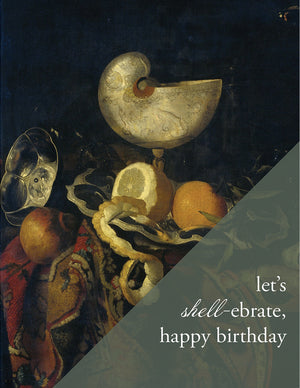 LET'S SHELL'EBRATE - Modern Masters Greeting Card - Sylvan Gate Design