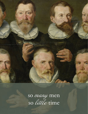 SO MANY MEN - Modern Masters Greeting Card - Sylvan Gate Design