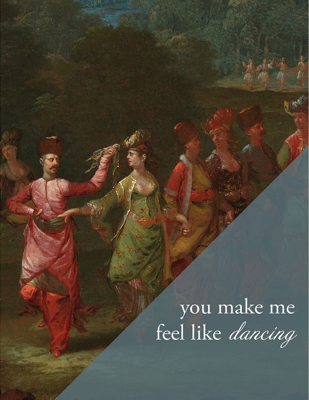 GREEK DANCING - Modern Masters Greeting Card - Sylvan Gate Design