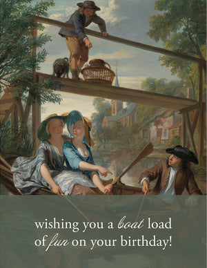 BOAT LOAD - Modern Masters Greeting Card - Sylvan Gate Design