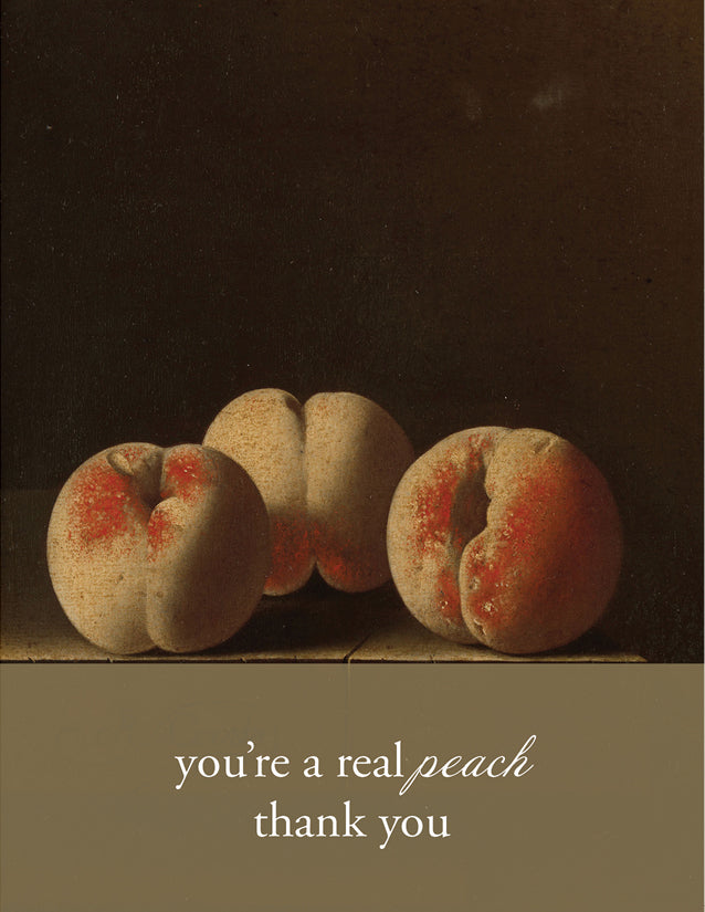 YOU'RE A PEACH - Modern Masters Greeting Card - Sylvan Gate Design