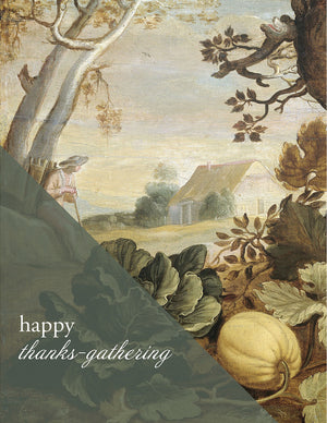 THANKS-GATHERING - Modern Masters Greeting Card - Sylvan Gate Design