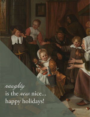 NAUGHTY IS THE NEW NICE - Modern Masters Holiday Greeting Card