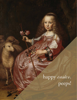 MM182 - PEEP'S- Modern Masters Greeting Card