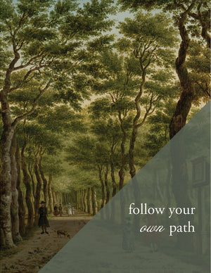 OWN PATH -  - Modern Masters Greeting Card - Sylvan Gate Design