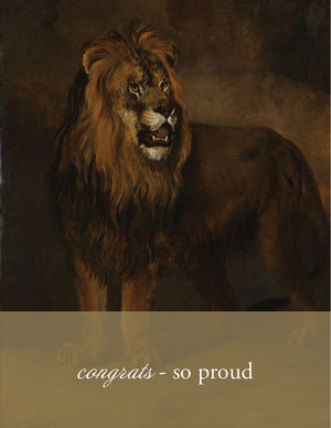 PROUD LION - Modern Masters Greeting Card - Sylvan Gate Design