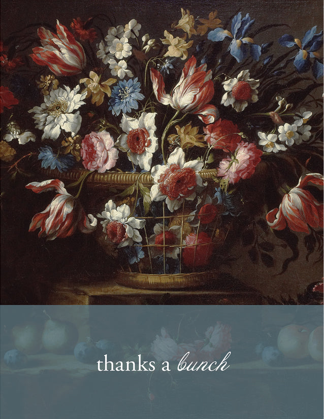 SMU101 - Thanks a BUNCH - Meadows Museum Art Greeting Card Exclusive - Sylvan Gate Design