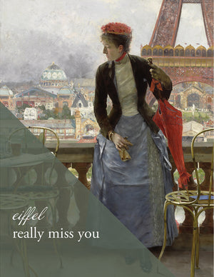 SMU103 - EIFFEL Miss You - Meadows Museum Art Greeting Card Exclusive - Sylvan Gate Design