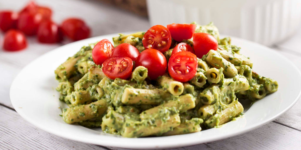 Avocado Cream Penne with Herbs