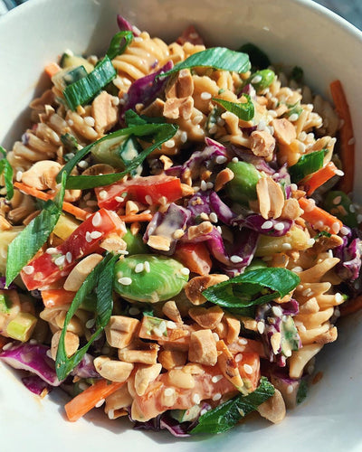Cold Thai Peanut Pasta Salad