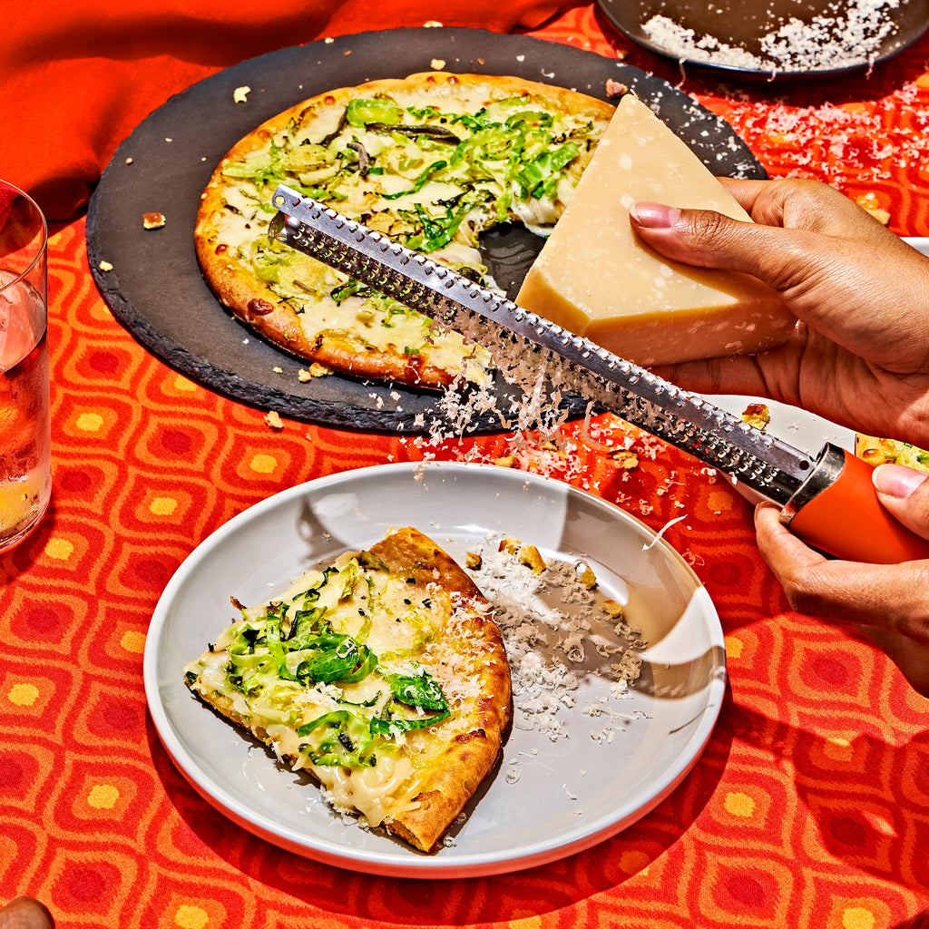 White Pizza with Brussels Sprouts, Sage, & Hot Honey
