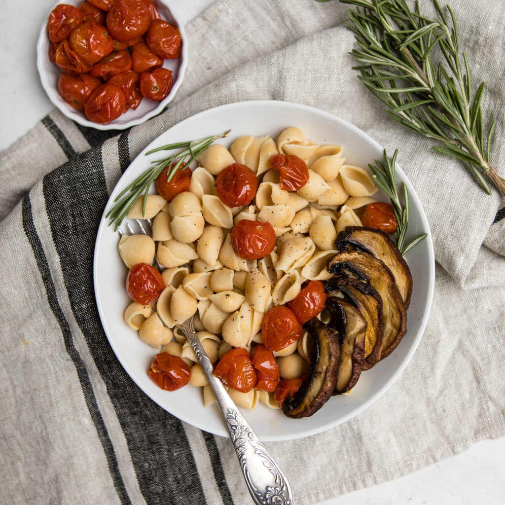 Shells with Rosemary Roasted Tomatoes