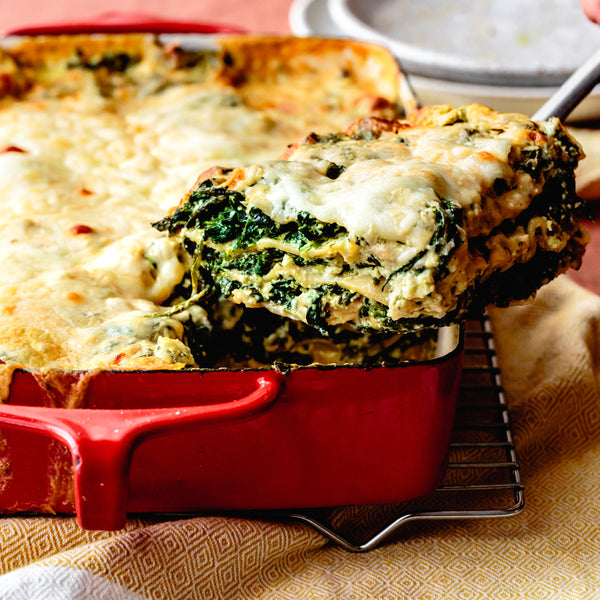Pesto + Spinach Lasagna
